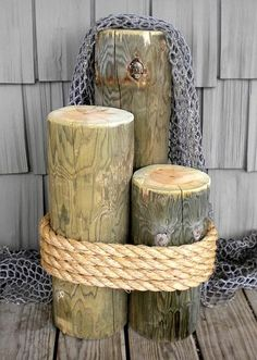 Extra Large Wood Piling 2'  These would look great with flower arrangements on each post as isle markers or entrance decor.