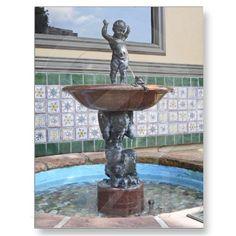 Boy and Frog Fountain by Raffaello Romanelli Post Card
