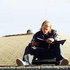 OK I know my obsession with CH is ridiculous--but who can resist his character Jax on Sons of Anarchy--a man who reads his father's journal and also journals himself?