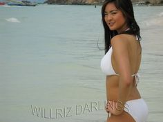 Riza Santos in her hot white bikini in Boracay