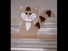 Critter Mania Using the Fox Builder Punch from Stampin Up! Episode #5 - Kitty Cat Critter - YouTube