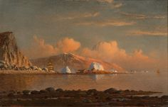 """Arctic Sunset off Labrador,"" William Bradford, 1872, oil on board, 9 x 14"", private collection."
