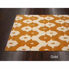 Handmade Modern Ikat Trellis Wool Rug (6' x 9') | Overstock.com