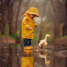 Compañeros bajo la lluvia ...