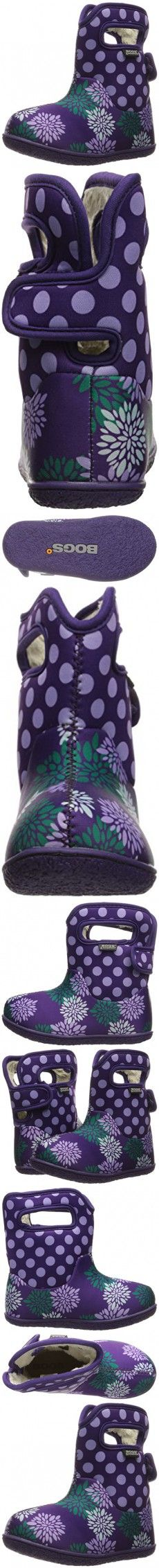 Bogs Baby Classic Pompon Dot Winter Snow Boot (Toddler),  Grape/Multi, 10 M US Toddler
