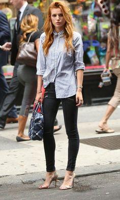 Look Fashion, Girl Fashion, Fashion Outfits, Celebrity Outfits, Celebrity Style, Look Jean, Street Style, Bella Thorne, Mode Inspiration