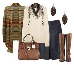 Estilo Casual Urbano by outfits-de-moda2 on Polyvore featuring moda, Ralph Lauren Blue Label, Joseph, Hobbs, Cole Haan, Ralph Lauren Collection and Forever 21