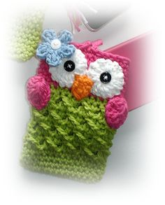 PDF Pattern Cute Crochet OWL Cell Phone Cozy and Nintendo DSi