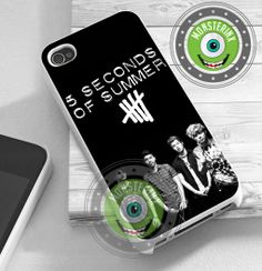 5 Second Of Summer Poster - iPhone 4/4s/5/5S/5C Case - Samsung Galaxy S2/S3/S4 Case - Black or White by MONSTERINX on Etsy