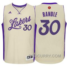 NBA 2015-16 Season Los Angeles Lakers  30 Julius Randle Christmas Day White  Jersey 7e377c0b8