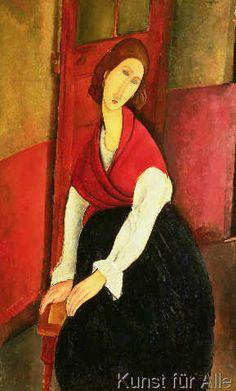 Amedeo Modigliani - Jeanne Hebuterne, 1919