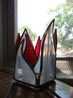 Custom Made Stained Glass Tealight Candle Holder Set