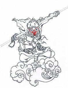 Cool monkey king Tattoo Ideas   Monkey King   Flickr - Photo Sharing!