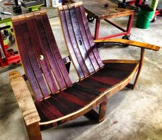 Wine Barrel Love Seat - Handmade Whiskey And Wine Barrel Recycled Furniture