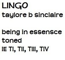 "lingo.taylore b sinclaire coined the phrase ""being in essensce"" which means dressing in congruence with your inner authentic self.""toned"" is a word she coined;it means being typed.""ie"" is the abbreviation of illuminEssence.""TI, TII, TIII, TIV"" are abbreviations for Tone I,II,III,IV;the names of her types. www.illuminessensce.com  www.youtube.com/watch?v=Q3CFkLmBtNs carol tuttle wrote in it's just my nature she was originally typed as a ""Tone 3"" by taylore b sinclaire at an illuminessensce…"