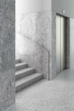 Tony Fretton Architects are an award winning international practice with an internatinal reputation for quality architecture. Arch Interior, Interior Stairs, Architecture Details, Interior Architecture, Elevator Lobby Design, Design Entrée, Stair Handrail, Staircase Design, Office Interiors