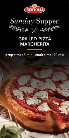 Make your next Sunday Supper a perfect pizza night with this Tuscan-inspired grilled pizza margherita recipe. Use Bertolli® Olive Oil & Garlic Sauce to discover the great taste of Tuscany. Greek Recipes, Italian Recipes, Easy Chocolate Lava Cake, Margherita Recipe, Grilled Pizza Recipes, Pasta, Pizza Pizza, Pizza Party, Garlic Shrimp