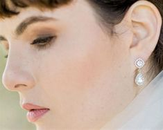 Heather, Crystal Drop Earrings - Jules Bridal Jewellery