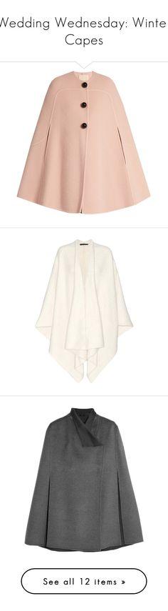 Designer Clothes, Shoes & Bags for Women Pink Wool Coat, Wool Cape, Cape Coat, Light Pink Coat, Winter Cape, Winter Wardrobe Essentials, Retro Vintage Dresses, Sweater Coats, Latest Fashion For Women