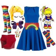 """Rainbow Brite"" by azurafae on Polyvore"