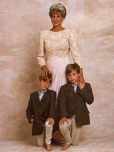 Diana, Princess Of Wales and her son William | . The photo features the Princess of Wales with her two young sons ...