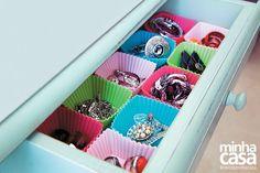 Gordinha de cupcakes de solicite pra organização de gaveta