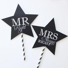 Mr Mrs フォトプロップス | 結婚式プロップス通販 EYM wedding