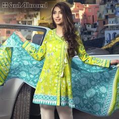 Gul Ahmed Summer Embroidered Lawn Dresses Collection consists of best styles & designs of premium & luxury lawn suits for all types & routines! Stylish Dresses For Girls, Stylish Dress Designs, Dress Neck Designs, Designs For Dresses, Simple Dresses, Casual Dresses, Summer Dresses, Simple Pakistani Dresses, Pakistani Fashion Casual