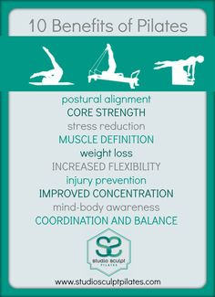 Benefits of Pilates! pilates pelota