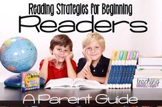 I wish I had these tips and strategies to help parents support beginning readers when my kids were learning to read. These hints are a great support for home reading and I love that they include links to posters to help support the reading strategies incl