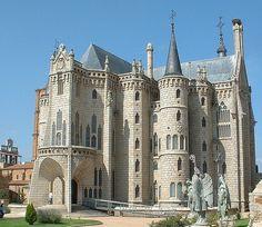Palacio Episcopal de Astorga (1889 - 1915), by Antonio Gaudi
