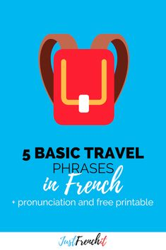 Do you plan to travel to France? You'll need to know these 5 basics travel phrases in French to feel confident and to have the best of experience in France. French Travel Phrases, French Phrases, French Words, French Sentences, French Friend, French For Beginners, French Expressions, Visit France, French Language Learning