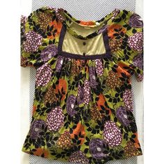Flowy fun colorfull top Multi colored with floral print Forever 21 Tops