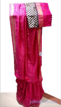 Saree Pink banaras
