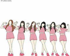 G Friend, Kpop Fanart, Queen B, Mamamoo, Monsta X, Ikon, Shinee, Bigbang, Seventeen