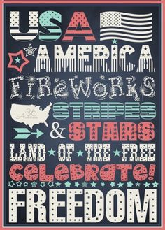 Patriotic Ideas – Fourth Of July Happy4th Of July, Fourth Of July Decor, 4th Of July Decorations, July 4th, Er Words, American Day, July Quotes, Subway Art, Love Is Free