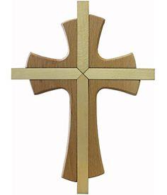 Kaltner Präsente-Regalo Idea-pared Cruz auténtica madera haya Cruz Crucifijo para la pared 25cm Modern