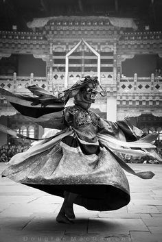 Mahakala dancer at the Chhukha Festival in Bhutan ©Douglas MacRae