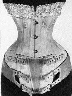 pregnancy corset, 19th century