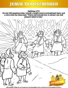 Feast of the Transfiguration coloring page: August 6th - Catholic ...