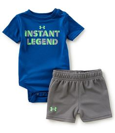 Under Armour Baby Boys Newborn-12 Months Short-Sleeve Instant Legend  Bodysuit   Shorts 0767473ff
