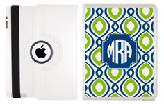 Monogrammed Swivel iPad 2 & 3 Case- Happy Duo Customize Your Own /Shades $74.99
