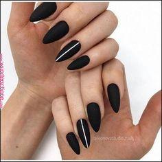 133 natural summer pink nails design for short square nails page 8 Edgy Nails, Grunge Nails, Stylish Nails, Black Acrylic Nails, Black Nails, Black Nail Art, Gel Nails, Manicure, Nail Nail