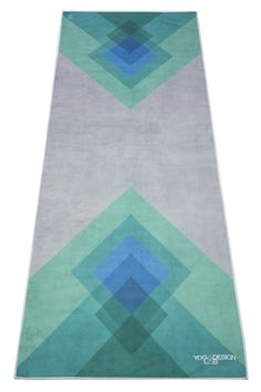 best service b0b85 e05c1 Premium Yoga Mat Towel (Collage Green) Yoga För Nybörjare, Motion, Design  Lab
