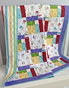 Baby Quilt featuring Bundle of Joy by by KimsQuiltingStudio