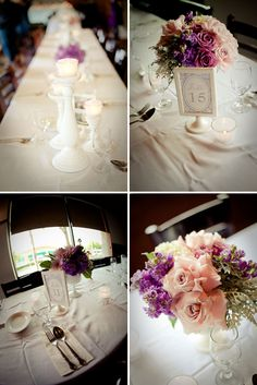 Lilac, Gray, and Pink Baptism Reception