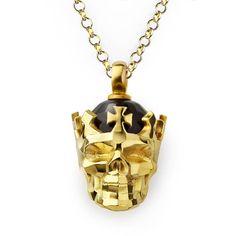 Etsy listing at https://www.etsy.com/uk/listing/527725701/faceted-skull-pendant