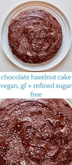 Chocolate Hazelnut Cake (vegan, GF and refined sugar free)
