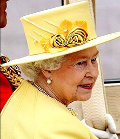 Nicely done    The Queen looked cheerful and lovely in her yellow outfit    Posh looks like she's in mourning     Princesses Eugenie and B...