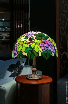 """Освещение ручной работы. Ярмарка Мастеров - ручная работа. Купить Настольная лампа Тиффани """"Каберне-Совиньон"""", D- 40 см, 330 деталей.. Handmade."""